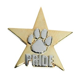 Paw Pride Award Pin - Gold/Silver Embossed