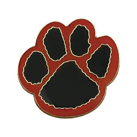 Paw Award Pin - Black/Red