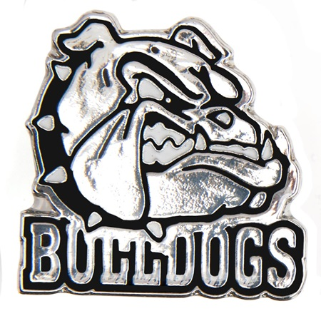 Bulldogs Award Pin - Silver/Black