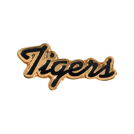 Tigers Award Pin - Black and Gold Script