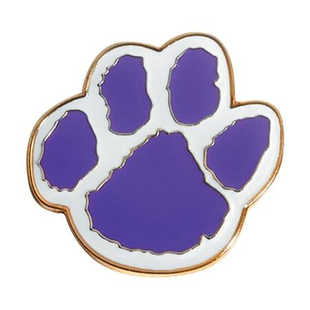 Paw Award Pin - Purple/White