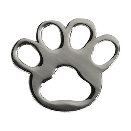 Paw Award Pin - Die Cut Silver
