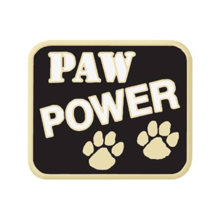 Paw Power Award Pin - Black/White