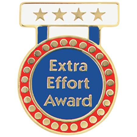Extra Effort Award Pin