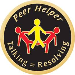 Peer Helper Award Pin – Talking Equals Resolving