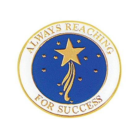 Always Reaching For Success  Award Pin