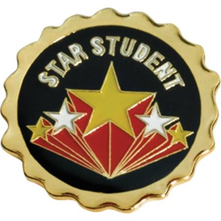 Star Student Award Pin - Starburst