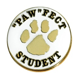 """Paw"" Fect Student Award Pin"