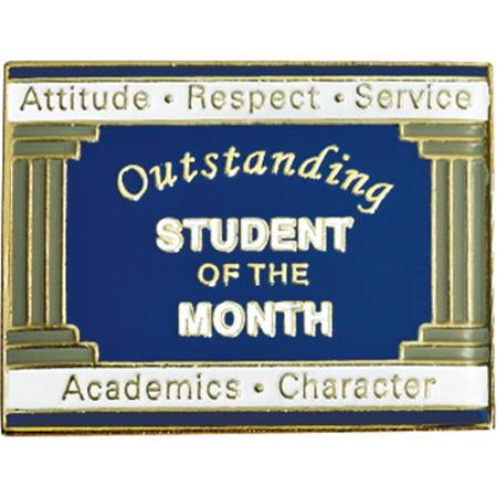 Student of the Month Award Pin - Columns