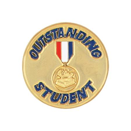 Outstanding Student Award Pin - Patriotic Medallion