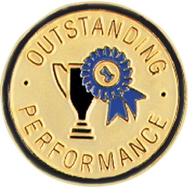 Outstanding Performance Award Pin - Trophy and Ribbon | Anderson's