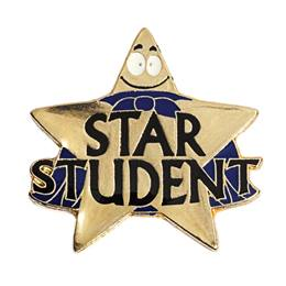 Star Student Award Pin - Star With Cape