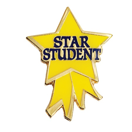 Star Student Award Pin - Star Ribbon