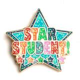Star Student Award Pin - Colorful Stars