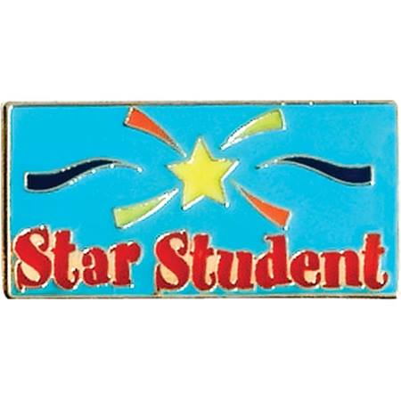 Star Student Award Pin - Colored Star