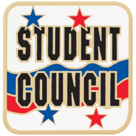 Student Council Award Pin - Red and Blue Stars