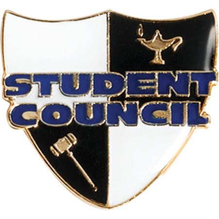Student Council Award Pin - Shield