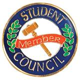 Student Council Award Pin - Gavel and Laurel