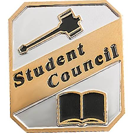 Student Council Award Pin - Black/Gold