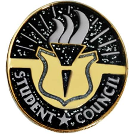 Student Council Award Pin - Glitter Torch
