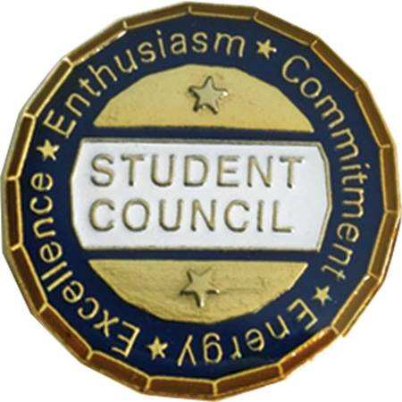 Student Council Award Pin - Excellence, Enthusiasm, Commitment, Energy