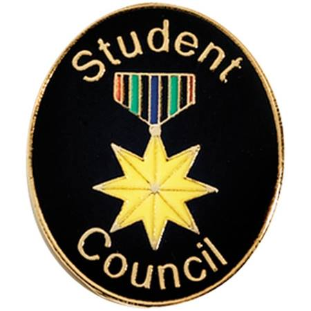 Student Council Award Pin - Star Medallion Drape