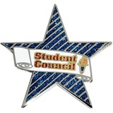 Student Council Award Pin - Glitter Star