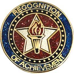 Achievement Award Pin - Glitter Recognition of Achievement