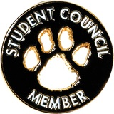 Student Council Award Pin - Die Cut Paw