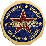 Mentor Award Pin - Blue Glitter