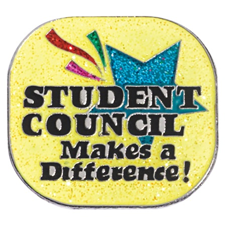 Student Council Award Pin - Glitter Student Council Makes a Difference