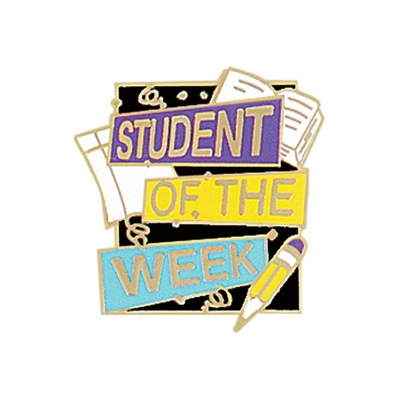 Student of the Week Award Pin - Book and Pencil
