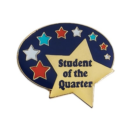 Student of the Quarter Award Pin