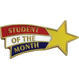 Student of the Month Award Pin - Shooting Star