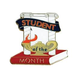 Student of the Month Award Pin - Columns With Lamp