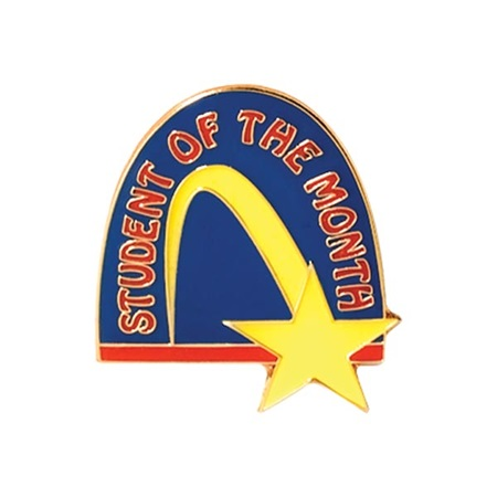 Student of the Month Award Pin – Yellow Shooting Star