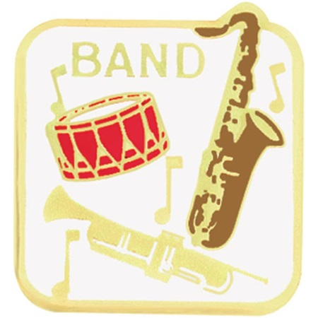 Band Award Pin - Instruments