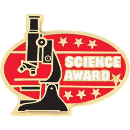 Science Award Pin - Microscope