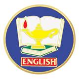 English Award Pin - Lamp of Learning