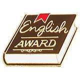 English Award Pin - Book