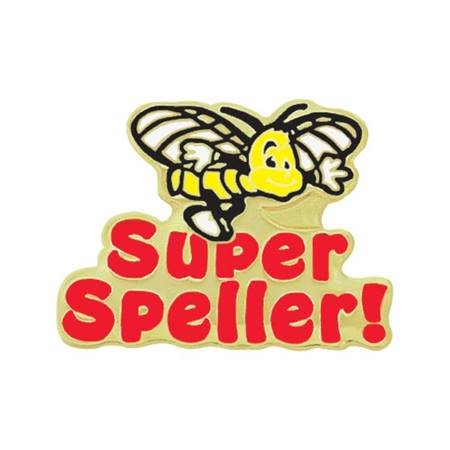 Spelling Award Pin - Super Speller