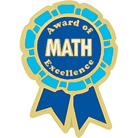 Math Award Pin  Award of Excellence  Anderson's