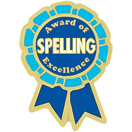 Spelling Award Pin - Award of Spelling Excellence