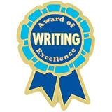 Writing Award Pin - Award of Excellence Ribbon