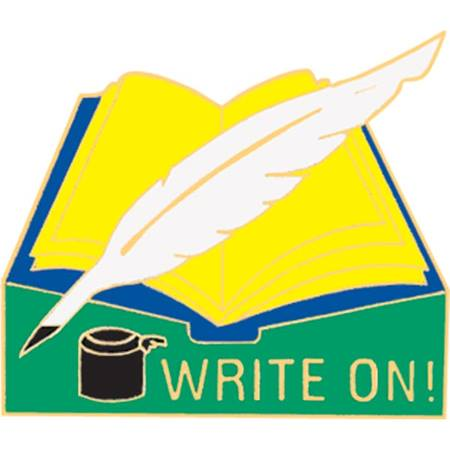 Writing Award Pin - Write On