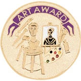 Art Award Pin - Sculpture, Paint and Art Supplies