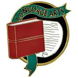 Language Arts Award Pin - Book