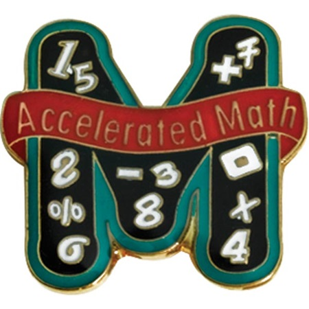 Math Award Pin - Accelerated Math