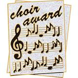 Choir Award Pin - Glitter Sheet Music