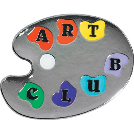 Art Award Pin - Art Club Paint Palette